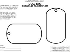 dog tag template - Google Search