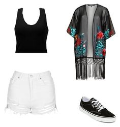 """""""Sem título #676"""" by vitoriastyles0908 ❤ liked on Polyvore featuring Topshop, House of Magpie, Vans and BKE"""