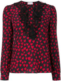 RED VALENTINO Heart Print Blouse. #redvalentino #cloth #blouse