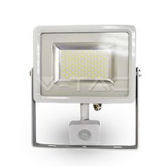 45,38€ 30W Proiettore LED Sensor Corpo Bianco SMD 4500K  SKU: 5751 | VT: VT-4830PIR  30W Proiettore LED Sensor Corpo Bianco SMD 6000K  SKU: 5752 | VT: VT-4830PIR