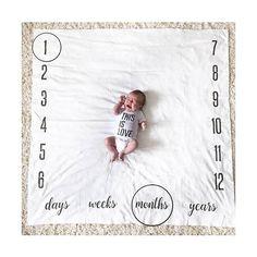 Couverture de jalon Expédié sous 3 jours! -Avant et au centre - -jours à ans - Doudou anniversaire Nous sommes parmi les premiers à créer une couverture de prop photo pour capturer les étapes de votre bébé et le premier à offrir les gamme de jours-semaines-mois et des années. -Nos