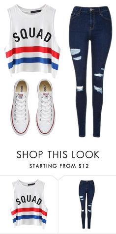 """""""Untitled #366"""" by graciiehemmo ❤ liked on Polyvore featuring Chicnova Fashion, Topshop and Converse"""