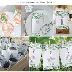 Faire-part de mariage Palm Springs - Collection Trendy - cottonbird. Palm Springs, Place Cards, Place Card Holders, Inspiration, Wedding, Collection, Hairstyles, Card Wedding, Invitations