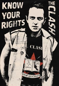 Know Your Rights - The Clash, 1982 This is a public service announcement With guitar Know your rights All three of them New Wave Music, Music Love, Music Is Life, Rock Music, Rock Posters, Band Posters, Concert Posters, Movie Posters, Rock Roll