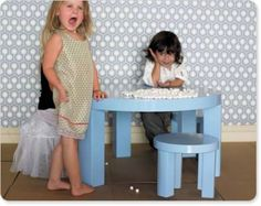 Modern Children Furniture: Grace Table by Jennifer Delonge