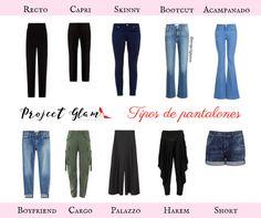 Tipos de pantalones: guía práctica. #Pantalones #Pants #Fashion