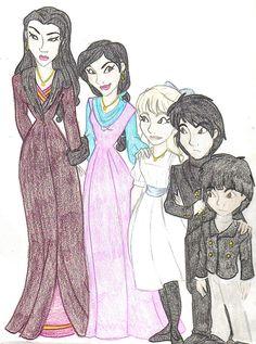 Sirius, Regulus, Narcissa, Bellatrix, Andromeda | The Cousins Black by Shuggie