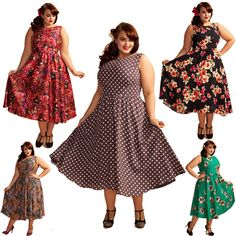 plus size retro dresses. Top right corner:  I'm all over this.  It looks a lot like a Butterick retro pattern I have. This would make an amazing summer dress in light cotton.