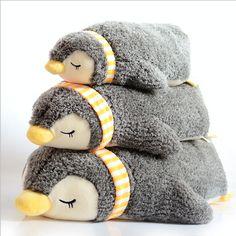 Сна Пингвин Фаршированные Плюшевые Игрушки для Детей Детские Мягкие Подушки 55 см 70 см купить на AliExpress
