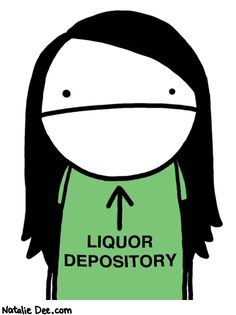 Natalie Dee comic: just pour it right in my face * Text: liquor depository Natalie Dee, Beer Humor, Quotes And Notes, Rap Music, Laughing So Hard, Make Me Smile, Are You The One, I Laughed, Funny Pictures