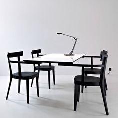 Floating Table, la table sans pied par Ingo Maurer #designer #design #table #bureau #office #black #white