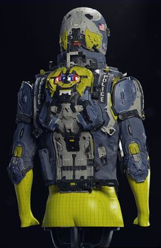 ArtStation - Police Vest Blue - Repost with Crops, Mike Andrew Nash Warrior Concept Art, Armor Concept, Armadura Steampunk, Futuristic Armour, Sci Fi Armor, Alien Creatures, Cosplay, Figure Drawing, Cyberpunk