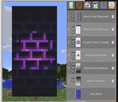 Minecraft Banner Patterns, Cool Minecraft Banners, Minecraft Room, Amazing Minecraft, Minecraft Crafts, Minecraft Furniture, Minecraft Houses, Minecraft Stuff, Minecraft House Tutorials