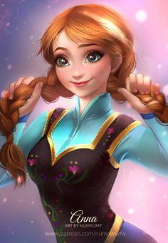 Super Ideas For Wallpaper Disney Frozen Fan Art Anime Disney Princess, Anna Disney, Frozen Disney, Disney Pixar, Anna Frozen, Disney Fan Art, Disney Girls, Disney Cartoons, Disney And Dreamworks