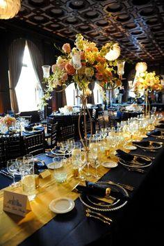 Navy and Gold | Regal Nautical | weddingomania