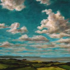 """""""Skyscape Study #3"""" 10X10"""" acrylic on Canvas , painting by artist Angela Hardy"""