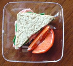 American Girl Food. Turkey Sandwich and Oranges Lunch by FauxRealFood