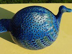 Rimini Blue Vintage Mid Century Italian Sculpture Duck Bitossi Aldo Londi