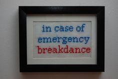 In case of emergency - by **Cross Stitch Junkien** #tichtach