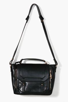 Blair Messenger Bag - Black
