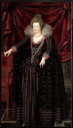 Marie de Médicis, Reine de France et de Navarre (1575 - 1642).