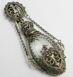 Beautiful Victorian Silver Chatelaine Scent Perfume Bottle, photo via Nina Eary.
