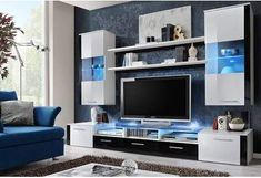 Modern tv wall unit white entertainment center 1 modern built in tv wall unit designs for Wall Unit Designs, Tv Stand Designs, Tv Unit Design, Wall Design, House Design, Entertainment Wall Units, Entertainment Center Wall Unit, Entertainment Furniture, Living Room Wall Units