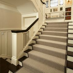 Someday when we decide to remove the carpeting throughout the upstairs and stairway I'd like to make it slip resistant like this