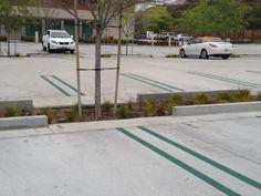 C.I.P. Concrete Curb with +/-8' curb cut infiltration strip