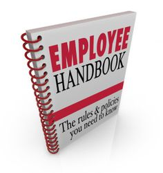 Spread from employee handbook... idea was to create something that ...