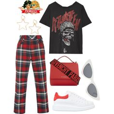On My Way by emilyypratt on Polyvore featuring R13, Tomas Maier, Alexander McQueen, Givenchy, Le Specs and Fiorucci