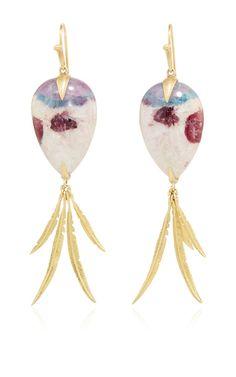 Parariba Tourmaline Bird Of Paradise Earring by ANNETTE FERDINANDSEN for Preorder on Moda Operandi