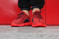 """Red October"" adidas Yeezy Boost 350 Custom by Rudnes"