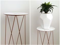 DIY marble & copper side table