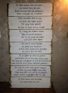 .voor mijn allerliefste kinderen!!! Mom Quotes, Wall Quotes, Family Quotes, Great Quotes, Words Quotes, Wise Words, Life Quotes, Sayings, Dutch Words