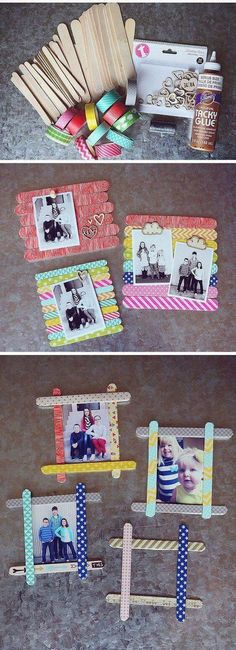 15 Gift Ideas for Parents Projects For Kids, Diy Projects, Polaroid Display, Parent Gifts, Make A Gift, Diy Frame, Decoration, Special Day, Make Your Own