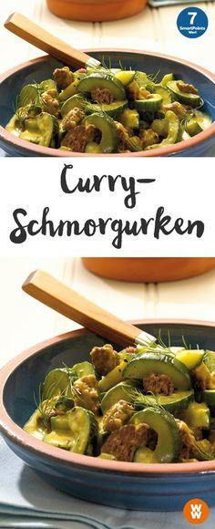Leckere Curryschmorgurken