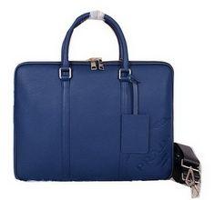 Réplique Prada en cuir d origine granuleux Porte P2695 Bleu, sac a main  prada pas cher 1ec0a81472a