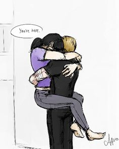 """Clint Barton & Kate Bishop  """"Here with me..."""""""