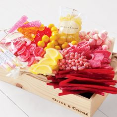 Strawberry Lemonade candy assortment from oliveandcocoa.com