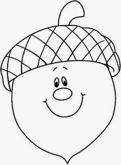 herbst fensterdeko kinder Pre-School Acorn Plant Coloring Page - Autumn Crafts, Autumn Art, Fall Preschool, Preschool Crafts, Fall Coloring Pages, Coloring Books, Autumn Activities, Applique Patterns, Pre School