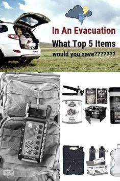 Evacuation Plan - What Would You Save? - Preppers Survive Hurricane Preparedness, Emergency Preparedness Kit, Survival Prepping, Survival Gear, Outdoor Survival, Survival Shelter, Wilderness Survival, Evacuation Plan, 72 Hour Kits