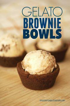 Party Food: Gelato Brownie Bowls AD