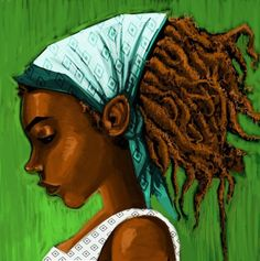 Rastas Hope Trump's Deportation Plan Will Facilitate Their Move Back to Africa Sisterlocks, Natural Hair Art, Natural Hair Styles, Natural Beauty, Raw Beauty, Au Natural, Dreadlocks, Rasta Girl, Black Artwork