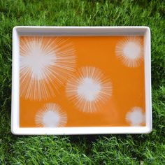 Starburst Tray Small Orange now featured on Fab.
