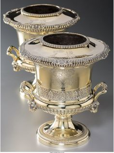 74048: A Fine Pair of Paul Storr Silver-Gilt Wine Coole : Lot 74048