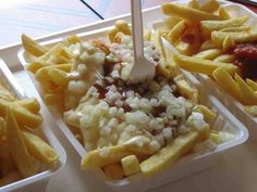 Dutch fries special. Fries can also come with peanut butter sauce, mayonnaise, jopie sauce or as fries war (Diffrent sauce together).