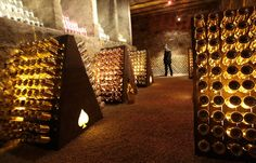 The cellar of Champagne Armand de Brignac bought recently by American rapper Jay Z in Rilly-la-Montagne in 2014.