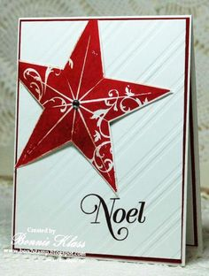 Christmas Star for Merry Monday, Greetings of the Season by bon2stamp - Cards and Paper Crafts at Splitcoaststampers