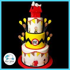 Charlie Brown and Snoopy 1st Birthday Cake NJ – Blue Sheep Bake Shop